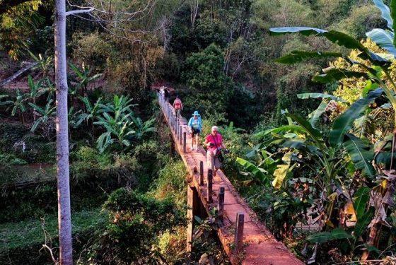 randonnée au village Ban Buoc