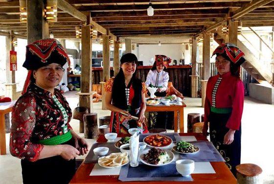 repas chez l'habitant au nord du Vietnam