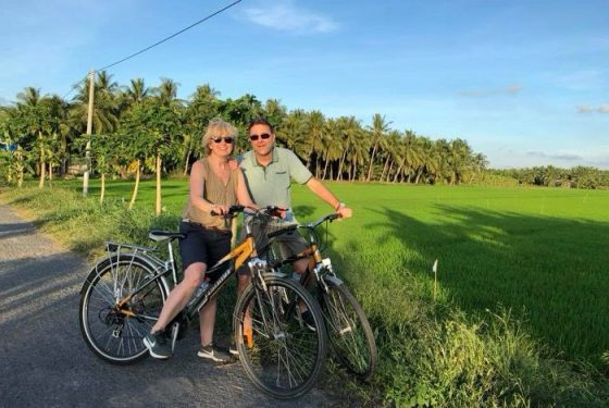 agence-voyage-locale-vietnamienne-hanoi-promenade à vélo dans le delta du mekong