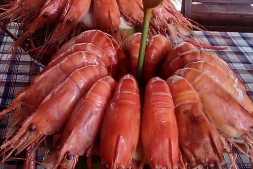 crevette dans un repas delta du mekong